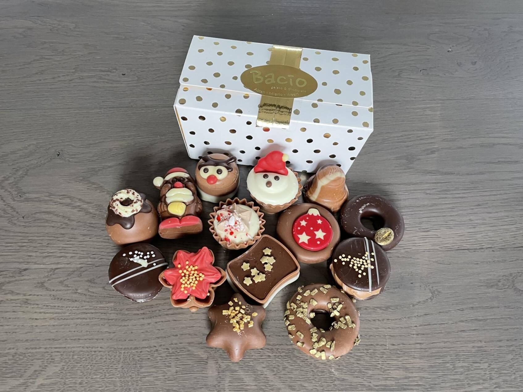 230 gram gevulde kerstchocolade