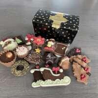 230 gram kerstchocolade: Gevuld & ongevuld